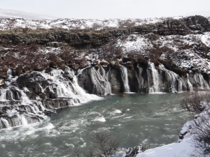 2b. Hraunfossar waterfall geology west