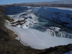 snowy gulfoss 2 waterfall golden circle