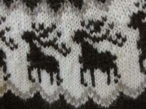 Icelandic sweater detail