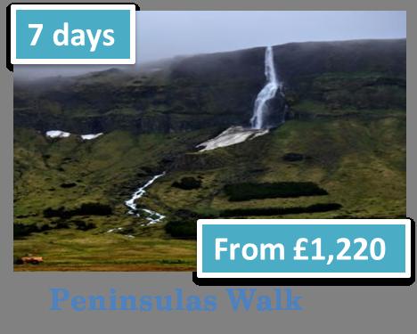 Peninsulas Walk in West Iceland