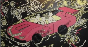 Liquorice wall mural