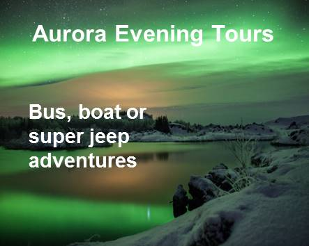 All Aurora evening tours from Reykjavík