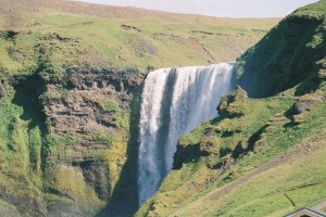 skogarfoss troll waterfall south geology