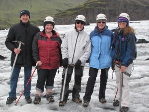 Team building group ice glacier