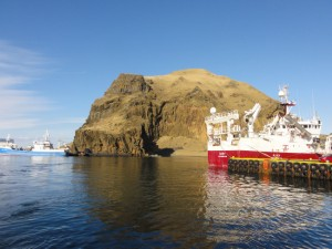 Heimaey harbour westman islands