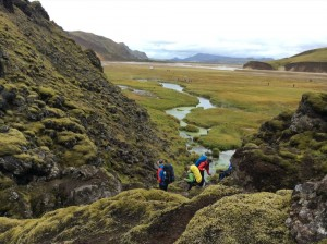 Summer hiking Landmannalaugar
