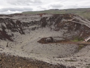 Grabrok.crater west iceland geology