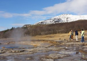 Geysir.geothermal.area.bright.winter.day golden circle