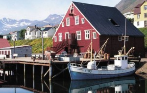 Siglufjordur fishing north iceland harbour
