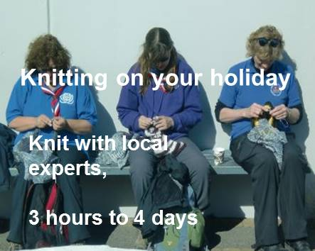 Knitting on your holiday