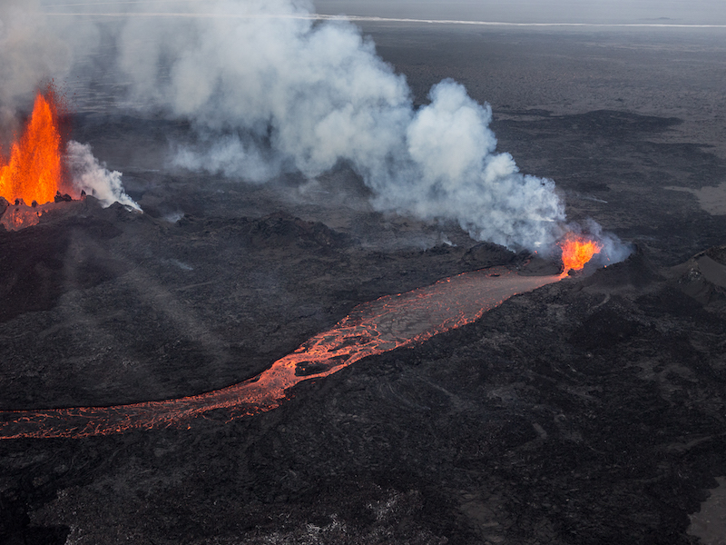 Iceland lava eruption